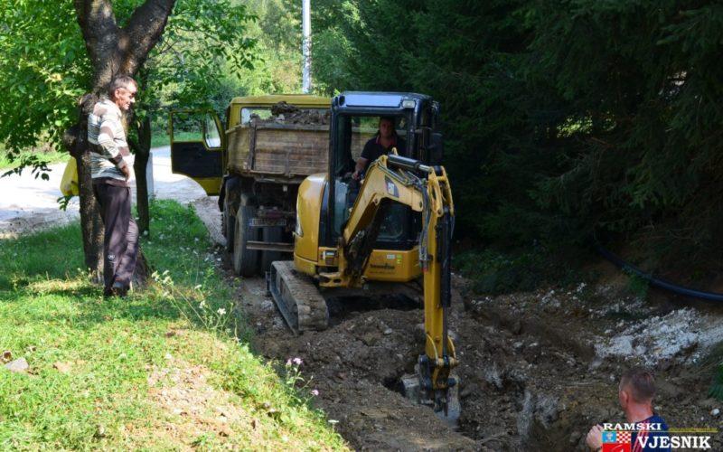 Foto/video: Vodovod za naselja u općini Prozor-Rama ide dalje
