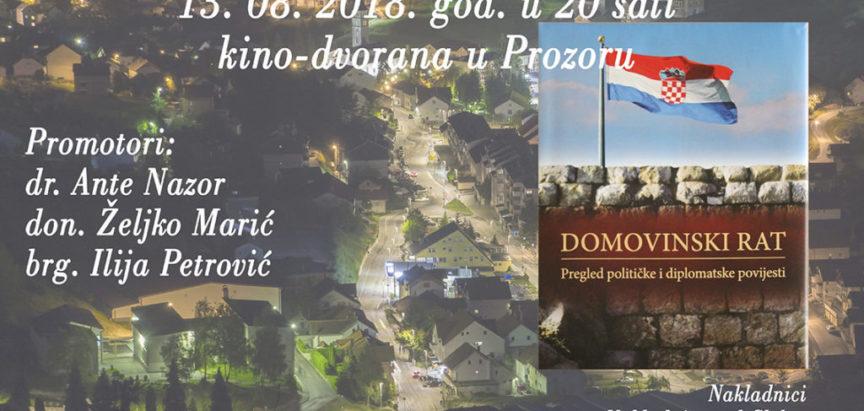 """Najava: Organizira se predstavljanje knjige """"Domovinski rat, Pregled političke i diplomatske povjesti"""""""