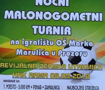 Sponzori Noćnog malonogometnog turnira općine Prozor-Rama