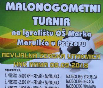Izvučeni parovi za Noćni malonogometni turnir u povodu Dana općine Prozor-Rama