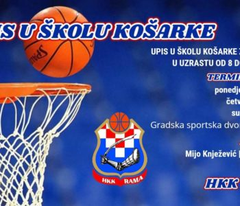 Upis u školu košarke za dječake