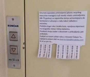 """Hrvatska stvarnost: """"Zaposleni"""" umirovljenik preko oglasa traži damu s kojom će šetati do kontejnera"""