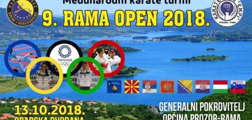 """NAJAVA: IX. Međunarodni karate turnir """"RAMA OPEN"""" u Prozoru"""