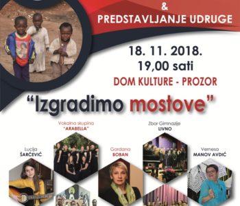 Najava : IZGRADIMO MOSTOVE – humanitarni koncert za djecu u Africi i predstavljanje Udruge