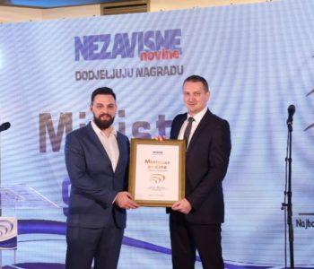 Nezavisne novine iz Banja Luke Josipa Grubešu izabrale kao najboljeg ministra