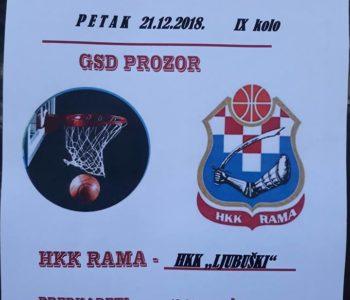 Košarkaši Rame ugostit će košarkaše Ljubuškog