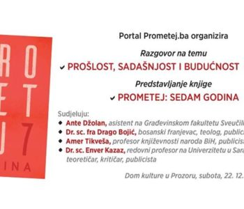 """Predstavljanje knjige """"Prometej: 7 godina"""" u subotu u Prozoru"""