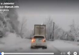 Jablanica: Popriječena teretna vozila zaustavila promet na M-17