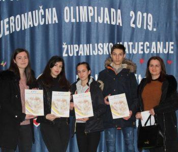 """Učenici Srednje škole zauzeli prvo mjesto na """"Vjeronaučnoj olimpijadi 2019."""""""
