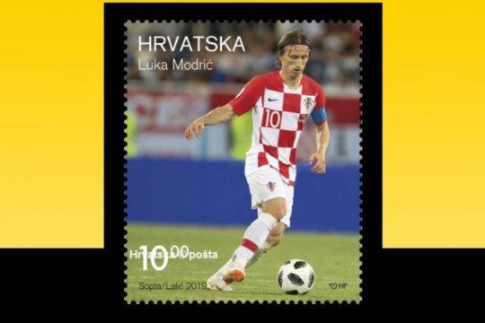 Luka Modrić na poštanskoj markici