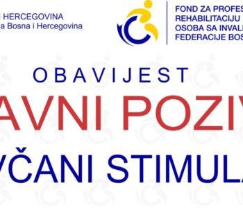 Natječaj: I. JAVNI POZIV za dodjelu novčanog stimulansa u 2019. godini