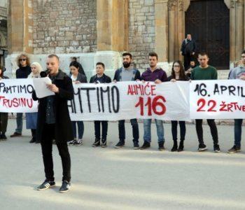 """Aktivisti YIHRBiH poručili """"Pamtimo Ahmiće, pamtimo Trusinu!"""""""