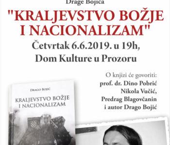 """Predstavljenje knjige """"Kraljevstvo Božje i nacionalizam"""" Drage Bojića u Domu kulture u Prozoru"""