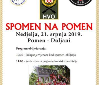Najava: Obilježavanje obljetnice stradanja pripadnika HVO-a na Pomenu