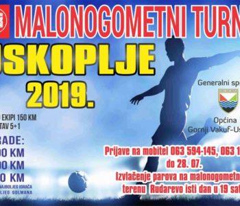 Najava: Malonogometni turnir u Uskoplju