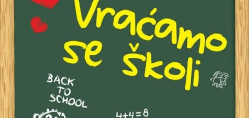 Nova školska godina kreće 2. rujna, u ZHŽ-u 9. rujna