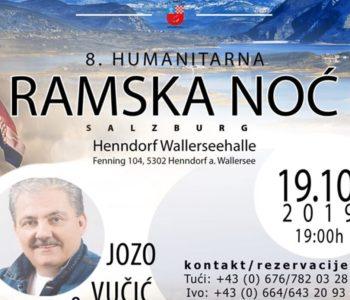 """Najava: 8. humanitarna """"Ramska noć"""" u Salzburgu 19.10.2019."""