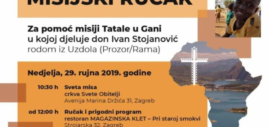 U nedjelju 29. rujna u Zagrebu Misijski dobrotvorni ručak za pomoć don Ivan Stojanović u misijskom radu