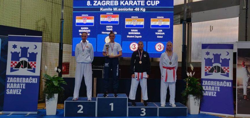 Karate : Anita Tadić zlatna na Zagreb karate kupu