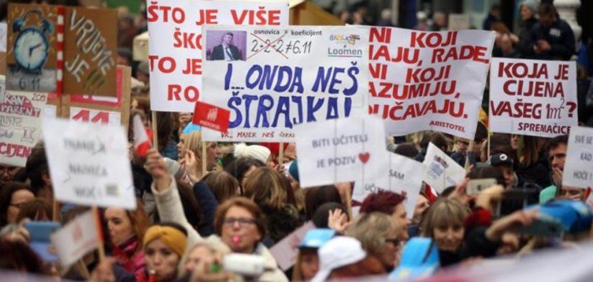 Po preliminarnim i nepotpunim podacima Vladina se ponuda prosvjetnim djelatnicima u Hrvatskoj odbija s preko 90 posto