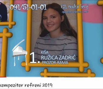 "Ružica Zadrić, mlada ramska nada, sudjeluje na festivalu ""Mali kompozitori"" u Banjoj Luci"
