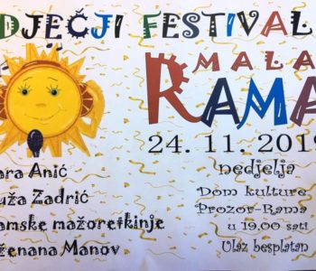 "Dječji festival ""Mala Rama 2019."""