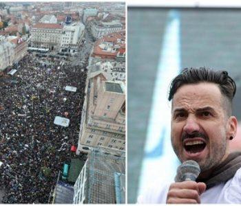 """""""Dosta vas je političari! Ovo je naša liga prvaka!""""- poručio je vjeroučitelj sa zagrebačkog Trga"""