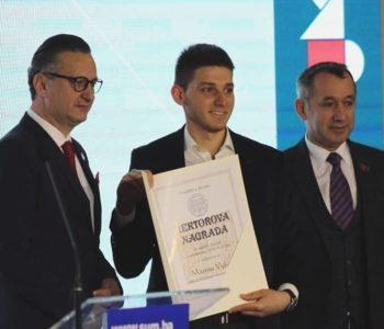 Marin Vukoja iz Rame dobitnik je Rektorove nagrade Sveučilišta u Mostaru