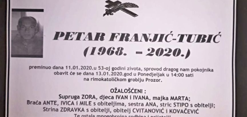 Petar Franjić – Tubić (1968.-2020.)