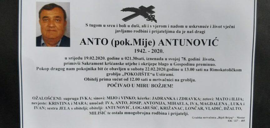 Anto Antunović (1942.-2020.)
