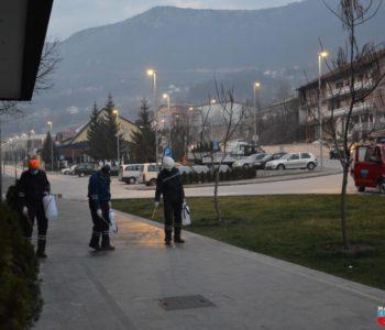Izvršena dezinfekcija ulica u Prozoru