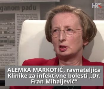 Alemka Markotić: Zbog iskustva u ratnom Sarajevu lakše se borim s koronavirusom