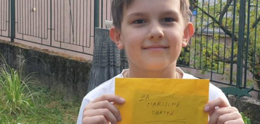 """Desetogodišnjak donirao novac """"Marijinim obrocima"""" i nahranio troje vršnjaka"""