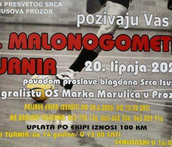 U subotu, 20. lipnja malonogometni turnir u Prozoru