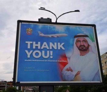 U Sarajevu Emiratima zahvalili za pomoć, a ona otišla za Crnu Goru