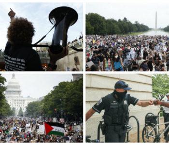 Održani dosad najveći prosvjedi protiv rasizma u Washingtonu i drugim američkim gradovima