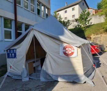 """Crveni križ ponovno postavio trijažni šator ispred Doma zdravlja """"Rama"""""""