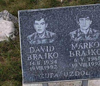 Obljetnica pogibije Davida i Marka Brajko na Ravašnici