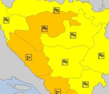 Meteoalarmi na snazi dva dana zbog dvije vremenske pojave u BiH