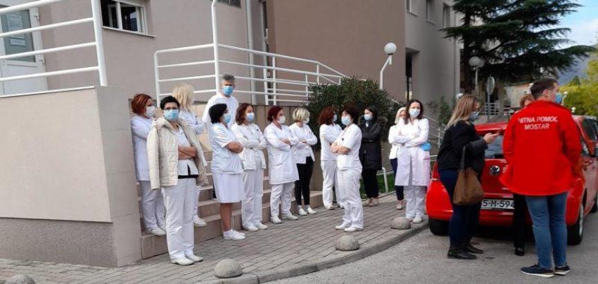 Prosvjed zdravstvenih djelatnika u Mostaru: Nećemo im dati mira