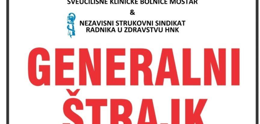 U četvrtak počinje Generalni štrajk zdravstvenih djelatnika