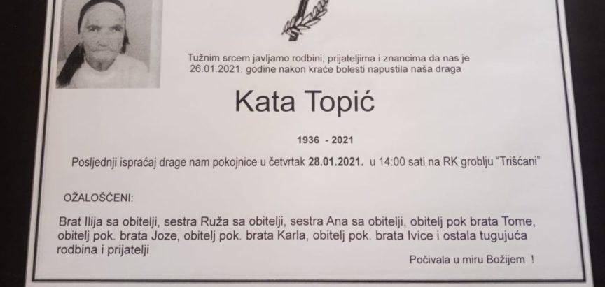 Kata Topić (1936. – 2021.)