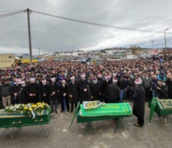 Tisuće ljudi na posljednjem ispraćaju trojice stradalih mladića u Cazinu