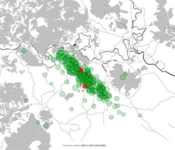 Video Seizmološke službe koji prikazuje sve potrese oko Petrinje
