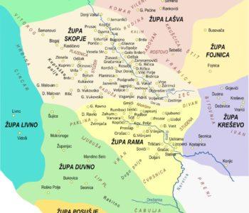 Brojno stanje u Rami prema podacima biskupa tijekom 17. stoljeća