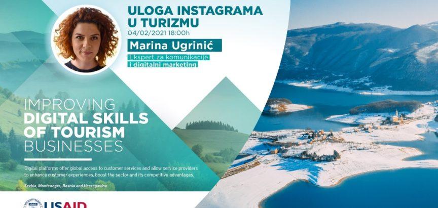 BESPLATNA ONLINE RADIONICA: Uloga instagrama u promociji turizma