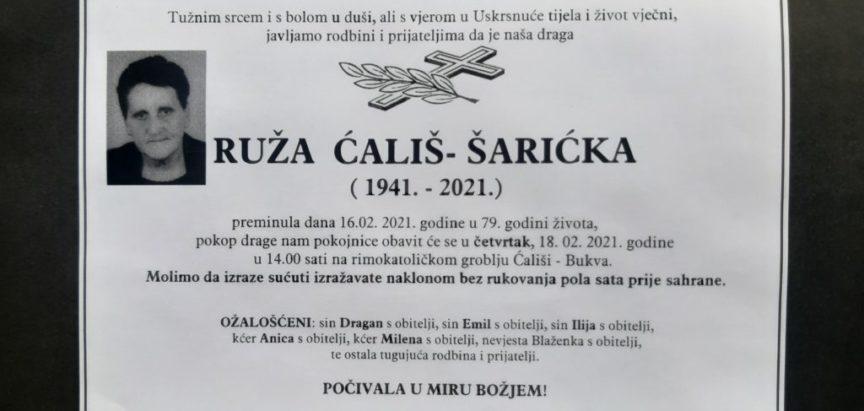 Ruža Ćališ – Šarićka