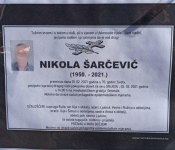 Nikola Šarčević (1950.-2021.)