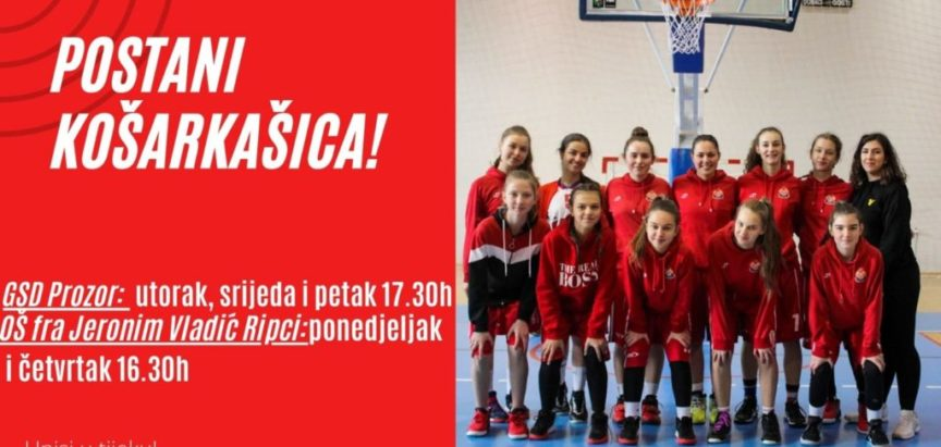 Upis u školu košarke za djevojčice od 6 do 14 godina