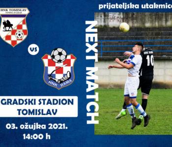 """HNK """"Rama"""" na prijateljskoj utakmici u Tomislavgradu"""